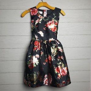 Mia&Mimi girls dress black floral size L